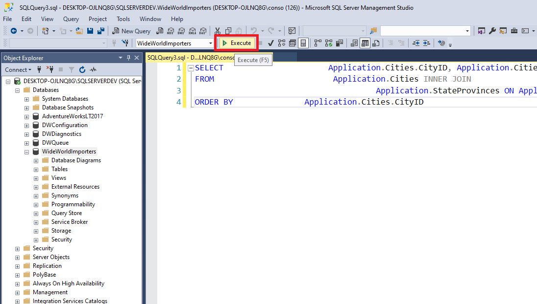 Query design in ssms Step 7